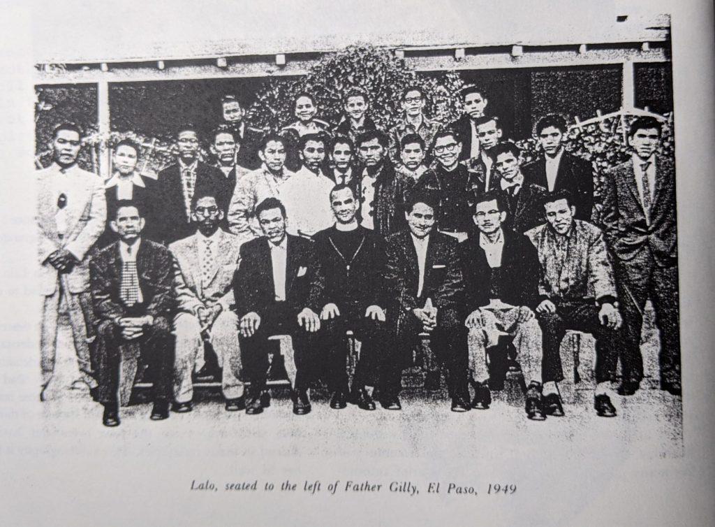 """Abelardo """"Lalo"""" Delgado in a group photograph"""